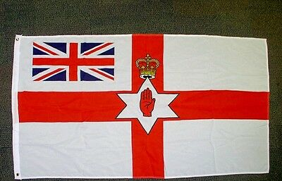 ulster flag with union jack in left corner
