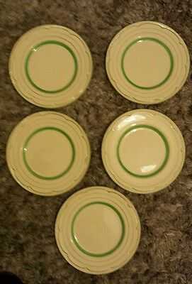 clarice cliff plates set of five