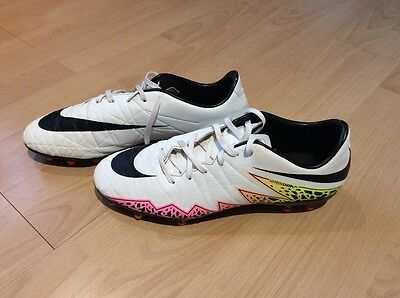 Nike Hypervenom II Football Boots (White - Size 8) - Great Condition