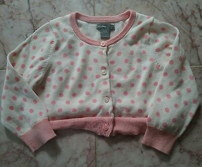 Gap Baby Sweet Pink Polka Dot Cardigan Sweater 12-18 Mos