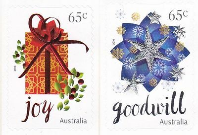 Australian Stamps - 2016 65c x 2 Christmas Embellished - P&S Mint