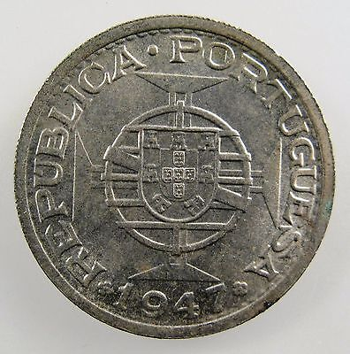 INDIA - PORTUGUESE. 1947 Silver 1 Rupia. Brilliant Uncirculated. KM-27.