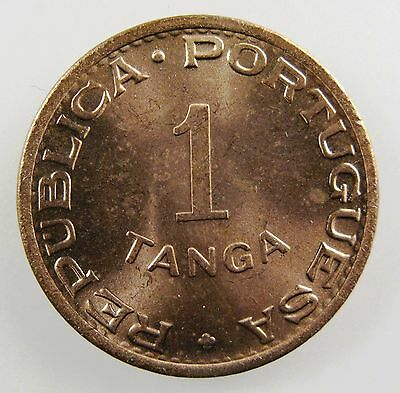 INDIA - PORTUGUESE. 1947 1 Tanga Red- Gem BU KM-24.