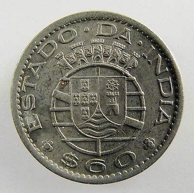INDIA - PORTUGUESE.1958 60 Centavos, Co-Ni. Uncirculated. KM- 32.