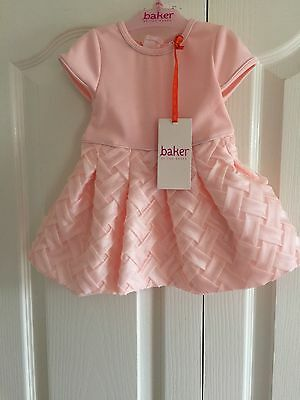 Ted Baker Baby Girls Pink Dress. Age 3-6 Months. BNWT. Designer
