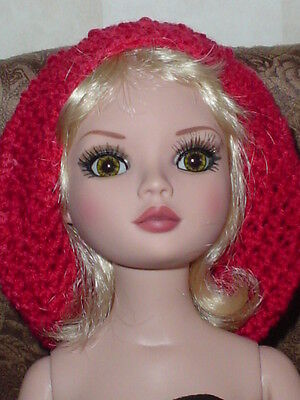 Handcrafted Slouch Doll Hat Tonner Ellowyne Amber Lizette Old Coral