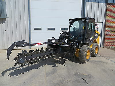 """Bradco 625 Skid Steer Loader Trencher - 48"""" x 6"""" - 70/30 Shark/Cup - Ships Free!"""