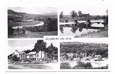 Nice Printed Multi-View Postcard Of Glasbury-On-Wye Breconshire