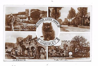 Superb Real Photographic Multi-View Postcard Of Amberley Near Horsham Sussex