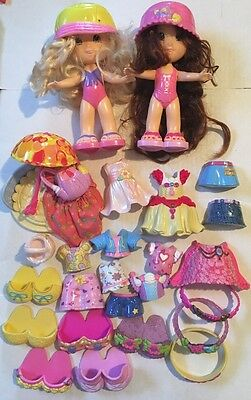Fisher Price Snap N Style Doll Lot W/ Clothes & Accessories 30 Pieces 2 Dolls