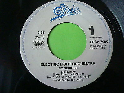 """""""7"""" ELECTRIC LIGHT ORCHESTRA - So Serious"""
