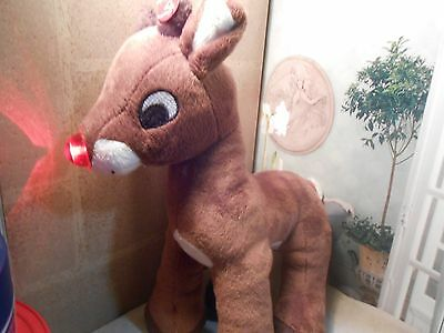 """Rudolph the Red-Nosed Reindeer Plush 12"""" Dan Dee Christmas Light up Music"""