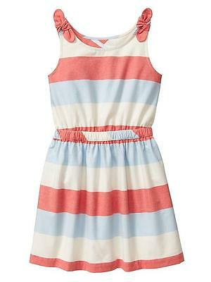 Gap Kids Striped Dress Size M 8 Girls Spring Summer Beach Medium Chambray Euc