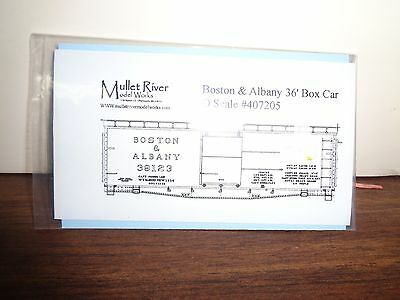 Mullet River O Scale #407205 Boston & Albany Decal
