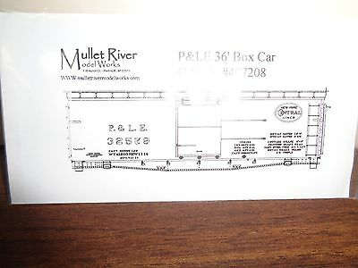 Mullet River O Scale #407208 P&LE Decal Set