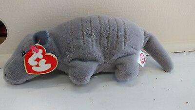 98b35f83520 TY BEANIE BABY - TANK the Armadillo (7 Lines -No Shell) (3rd Gen Hang Tag  MWNMT) -  39.99
