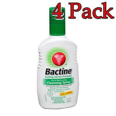 Bactine Pain Relieving Cleansing Spray, 5oz, 4 Pack 365197810055T492