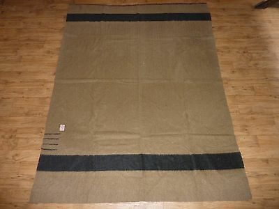 1915 - 1920's Hudson's Bay Company Wool Blanket - 4 Point Camel