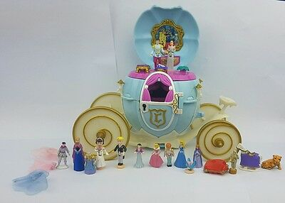 polly pocket Disney Cinderella's  Carriage with 15 Figures and Accessories 1999