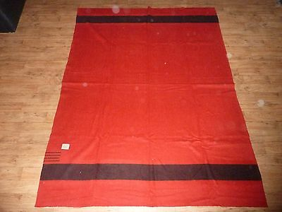 Antique 1900 - 1915 Hudson's Bay Company Wool Blanket - 4 Point Scarlet