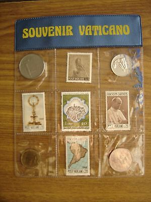 Vatican City 5 Stamp And 4 Coin Souvenir Set  Souvenir Vaticano