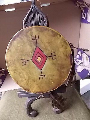 Vintage,native American,sioux,hand Drum,hand Painted,very Old