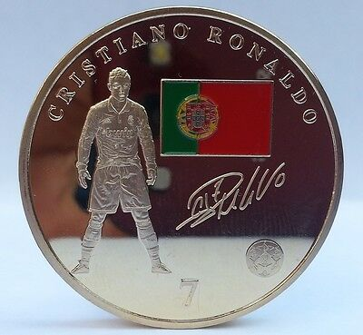 Cristiano Ronaldo / Real Madrid Gold Coin Signed Portugal Star Player Number 7