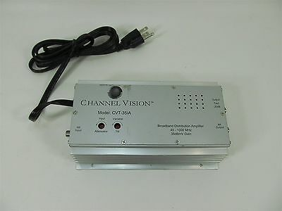 CHANNEL VISION CVT-35IA BROADBAND DISTRIBUTION AMPLIFIER 40-1000 MHz 35dBmV