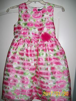 NWT Girl's Party Dress sz 8 Flower Girl Pink Green White