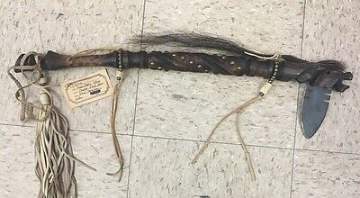Sioux Horse Dance Stick By Dennis Eagle Horse Wood Horsehair & Leather Beautiful