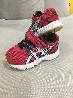 ASICS GT 1000 3 Red Toddler Shoes Size us 6  13.5cm Adorable