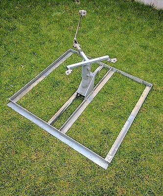 Satellite dish patio or flat roof mount.