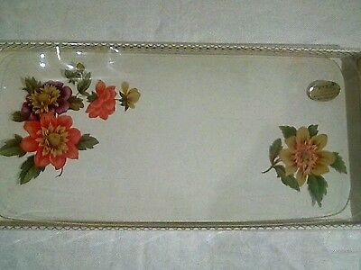 Vintage Chance glass ware serving plate boxed