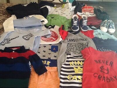 Huge baby boy brand name mixed lot size 6-12 months