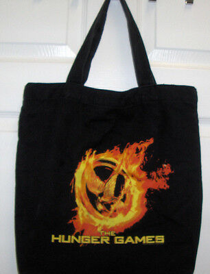The Hunger Games Black Canvas Tote Bag  Official Movie Mockingjay Euc