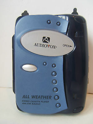 Audiovox Portable Stereo Cassette Player AM/FM Radio AXW1776-08 Works