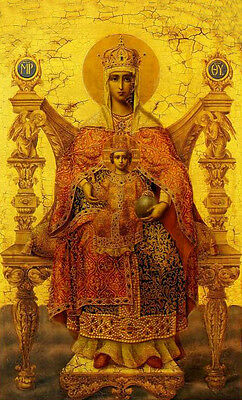 Huge Oil painting Peter Nogovicin - Madonna Mary Mother of god Hand painted