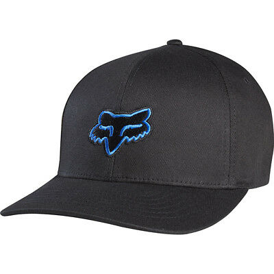 NEW Fox Racing MX Youth Legacy Motocross Cap Foxhead Black Blue Kids Flexfit Hat