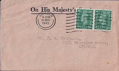 On His Majesty's Service  1945 Cover