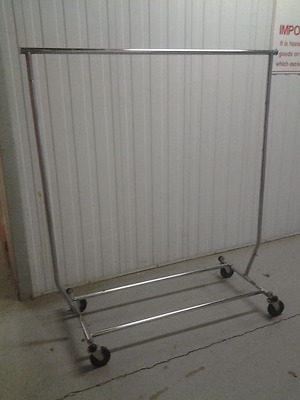 PORTABLE - INDUSTRIAL CLOTHING- CLOTHES RACK -ABSOE -Adjustable -Commercial