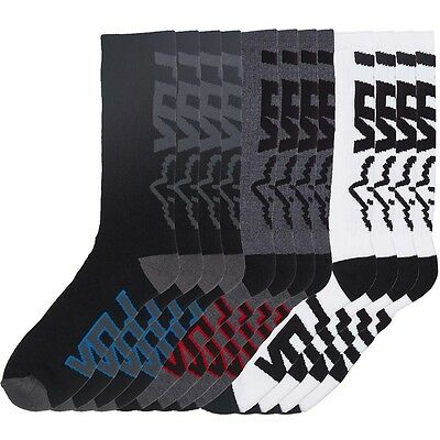 NEW Fox Racing 6 Pack Core Long Skate Grey White Black Assorted Crew Socks 6pk