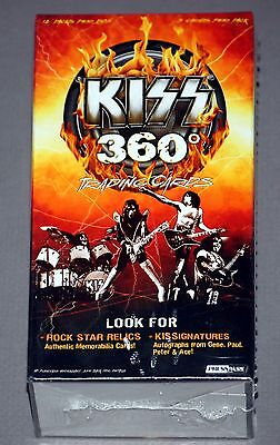 Sealed KISS 360 Degrees Trading Card Full Box Press Pass 2009 Gene Simmons Ace