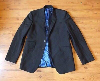 Paul Smith, THE WESTBOURNE Modern Fit Suit in black wool/mohair 42R x 39W x 33L