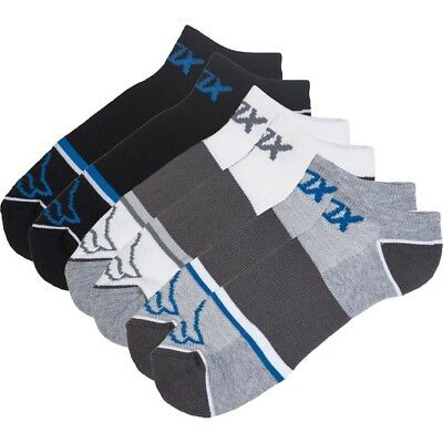 NEW Fox Racing MX 3 Pack Tech Midi Sport Running Assorted Mid Ankle Socks 3pk
