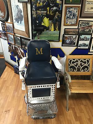 University Of Michigan Man Cave barber chair antique PIcK UP Only! No Shipping