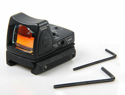 *Tactical Reflex Adjustable Ultra Mini Red Dot Sight Scope for Airsoft Black