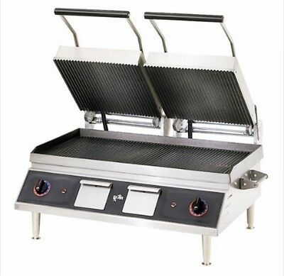 STAR PANINI SANDWICH GRILL-IRON/GROOVED TOP & Grooved  BTM -14 X 28 -
