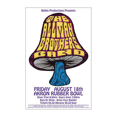 Allman Brothers 1972 Cleveland Concert Poster