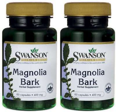 2x Magnolia Bark 400mg x 60 Capsules - Stress & Appetite Control - Sleep Rest