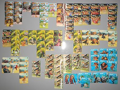 Huge lot of 112x Woolworths Dreamworks Heroes Trading Cards